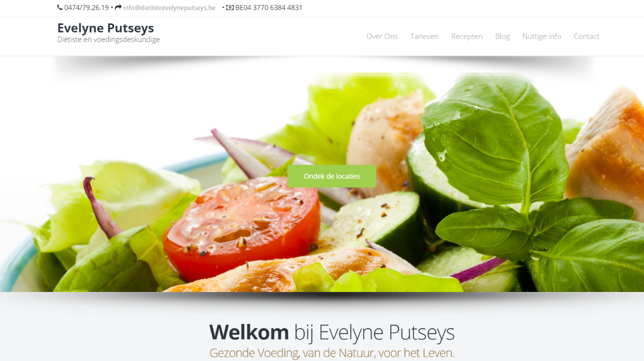 Website Dietiste Evelyne Putseys